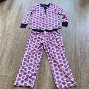 Betsey Johnson Heart Pajama PJ Set